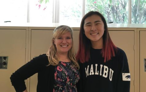 Math teacher Allison Davis (left) had a huge impact on her student, Miya Okumura (right), who she taught for two years. Davis was the first teacher Okumura felt comfortable talking to and going to for help because she is always passionate about her job and always there to support her students through their toughest times.