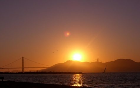 As the Bay Area experienced extreme heat, many San Francisco residents were treated to fiery, red sunsets that occurred as a result of the heat.