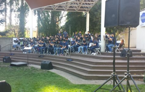 At the Save the Music Festival, the Carlmont Symphonic Band performed on the Oracle Community Stage. The local elementary and middle schools also performed throughout the event.