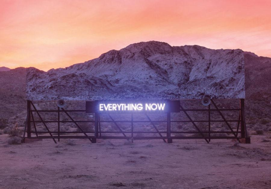 The+cover+of+%22Everything+Now%22+by+Arcade+Fire+features+tranquil+scenery.