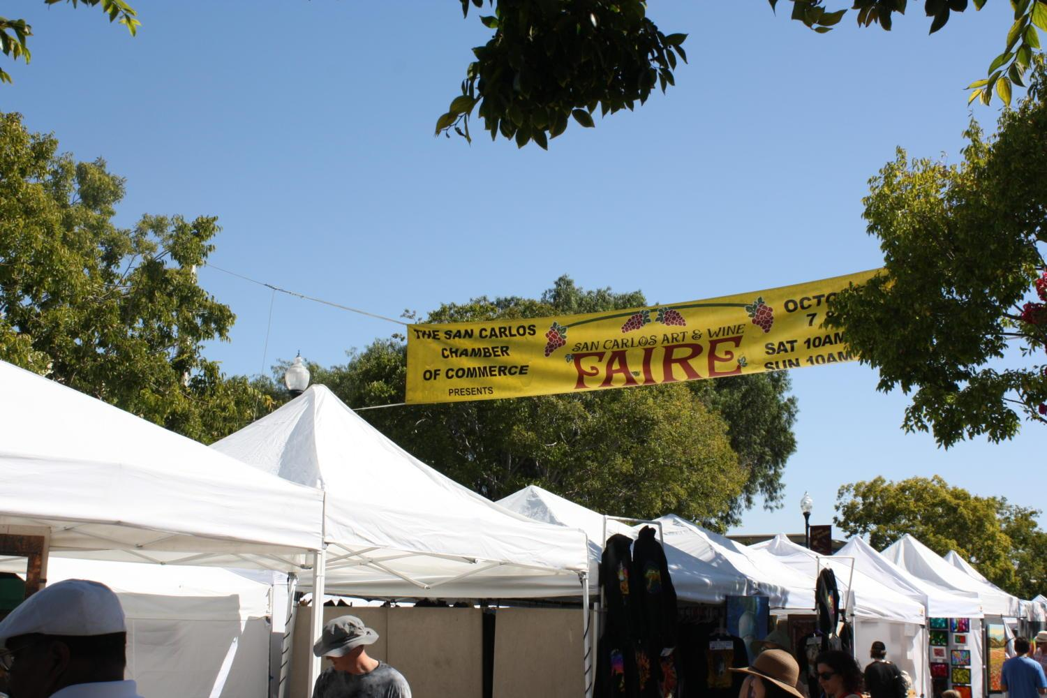 The Art and Wine Faire stretched throughout downtown San Carlos, drawing big crowds amidst the high temperatures of the weekend.