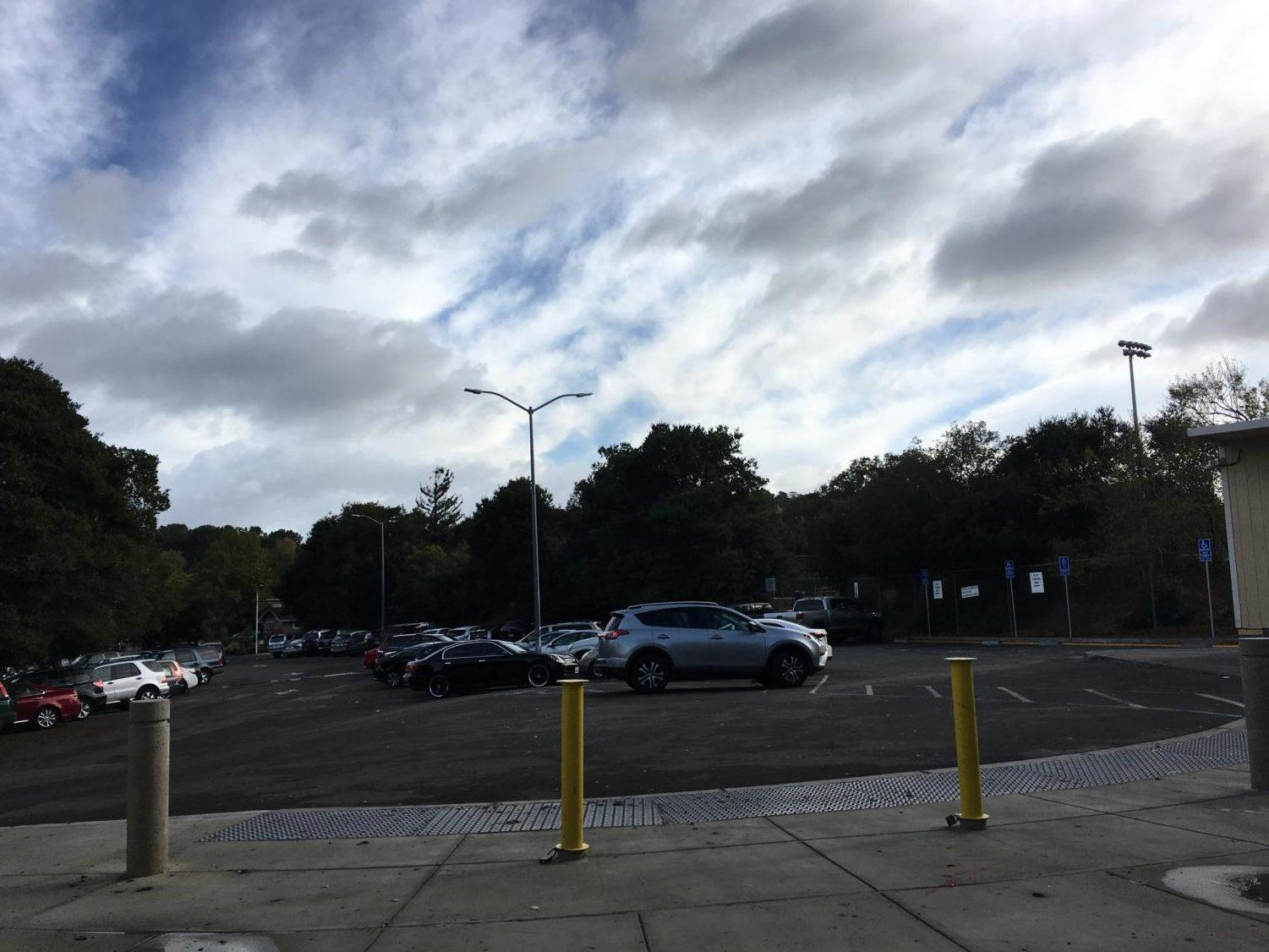 Carlmont's parking lot has spots available for $100 apiece. After school especially, all the cars flooding out of these parking lots slows traffic and causes a rush of cars.