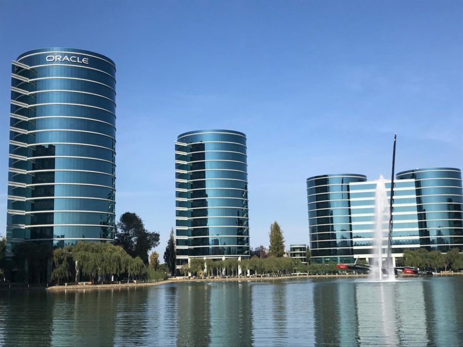 These are the headquarters of Oracle, the company that provided the $20,000 grant to the Carlmont Academic Foundation.