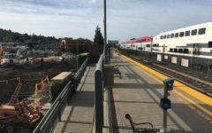 Construction alongside San Carlos train station complicates passenger commutes.