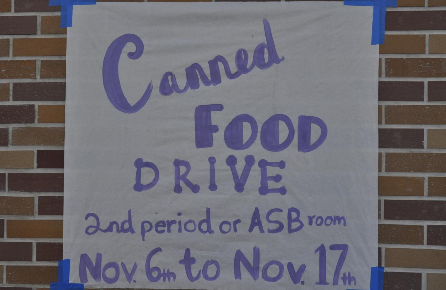 Huge+posters+announcing+the+food+drive+mark+the+walls+of+Carlmont+High+School.