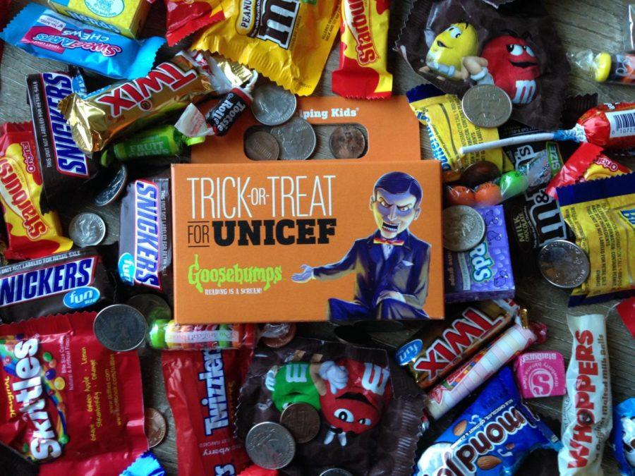 Trick-or-treaters asked for  donations for the Trick-or-Treat for UNICEF project to provide emergency relief for kids affected by the earthquakes and hurricanes in Mexico and Puerto Rico.