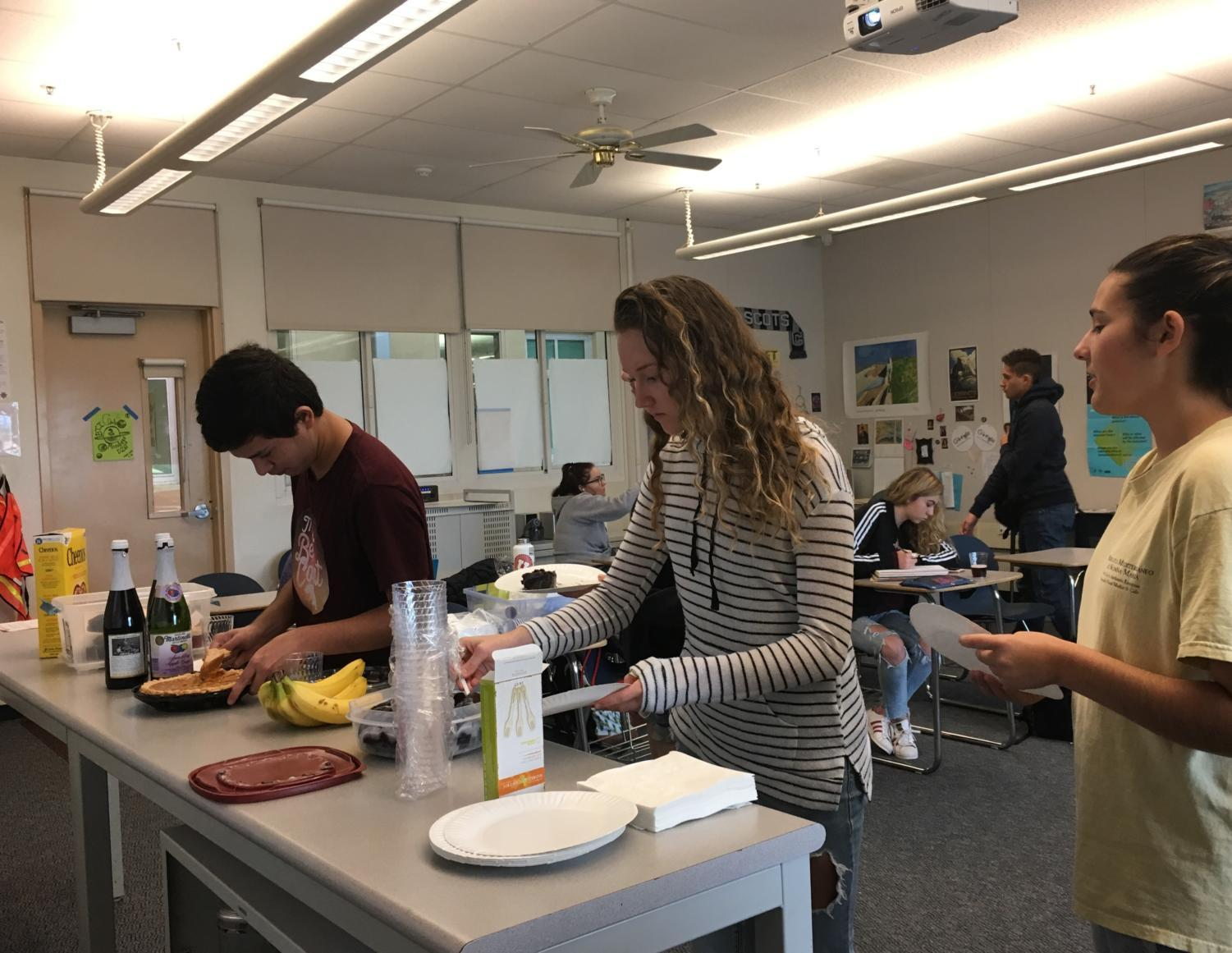 The BTI Club holds a monthly potluck for members to bond.