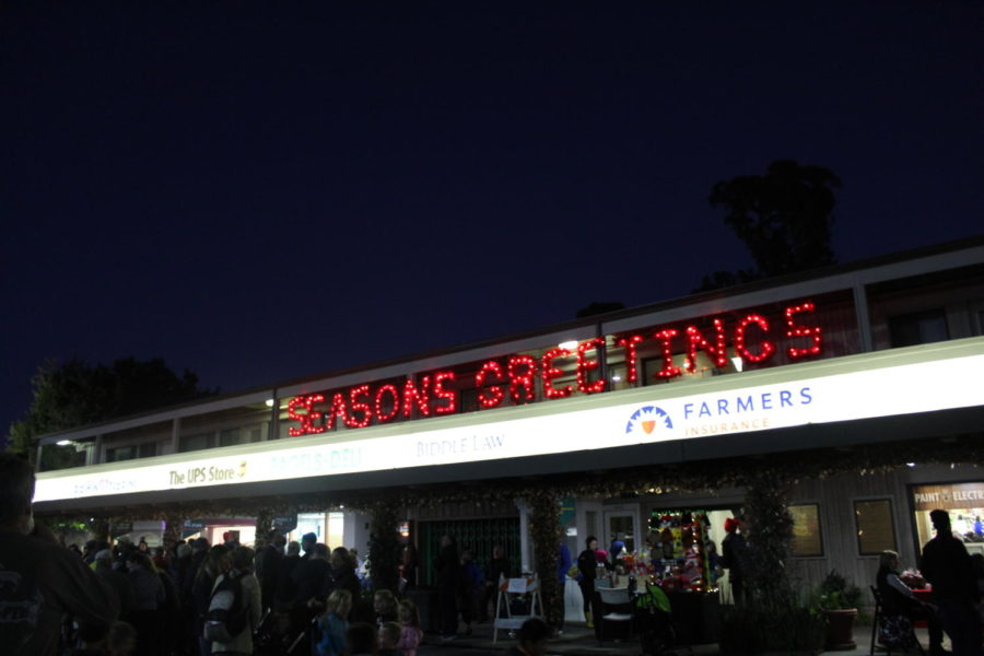 The Christmas Tree Lighting and Holiday Boutique attracted many people, and began the holiday season for the community.