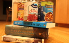 Patrons of the San Mateo County Library System can bring in donations of non-perishable items instead of paying any fees they may have.