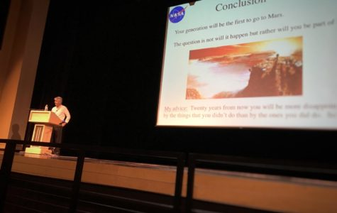 NASA researcher Michael Flynn sums up his presentation with a few brief words of advice for the audience. Flynn said,