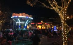 Crowds enjoy the festivities at the San Carlos Night of Holiday Lights.