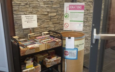 Patrons can donate nonperishable items like cans or dried foods in order to waive library fines.