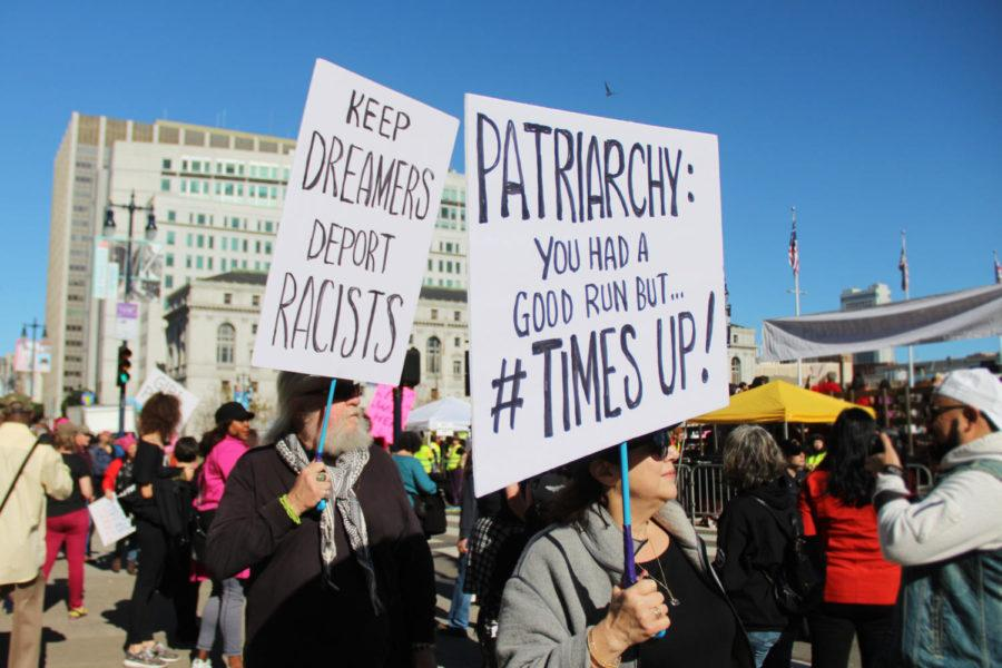 Signs of all shapes and sizes were held during the rally and the march to advocate for various causes.
