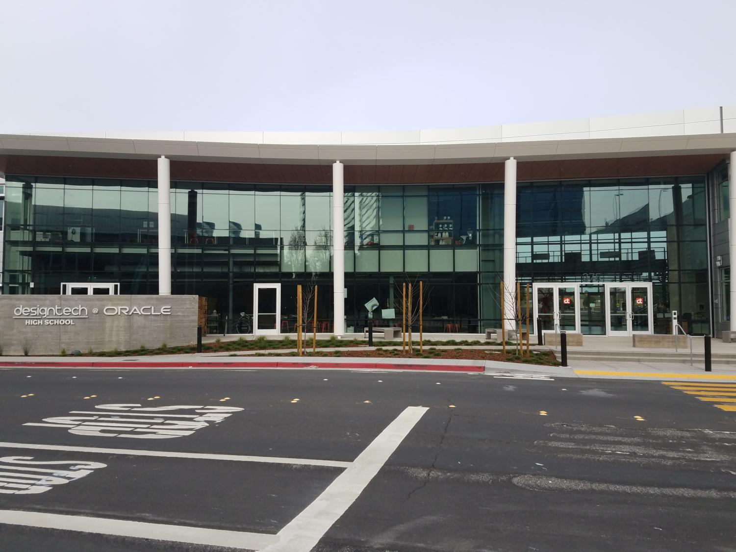 The+entrance+to+the+Design+Tech+new+building+at+275+Oracle+Pkwy%2C+Redwood+City%2C+CA.