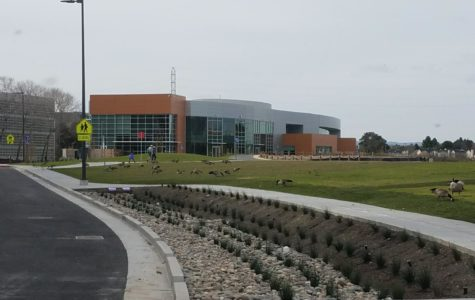 The new Design Tech campus can be seen as one drives down the road to Oracle.