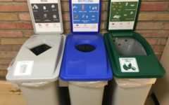 New tri-bin sets can be found throughout the hallways of Carlmont High School.