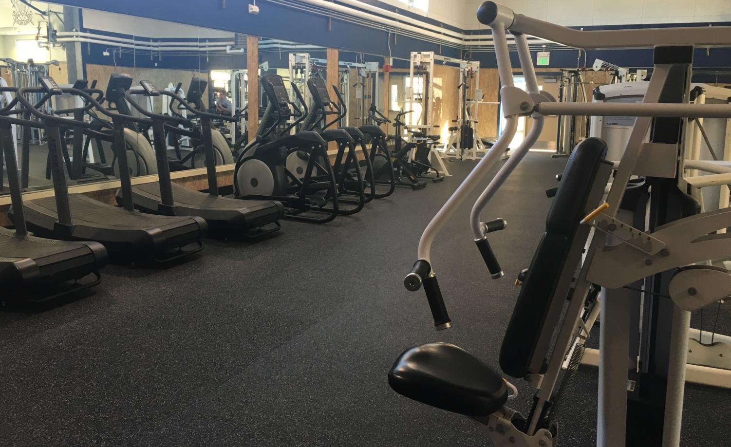 Students are free to utilize all of the equipment in the new weight room facility.