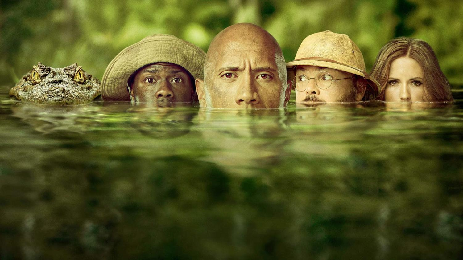 'Jumanji: Welcome to the Jungle' stars Dwayne Johnson, Kevin Hart, Jack Black, and Karen Gillan.
