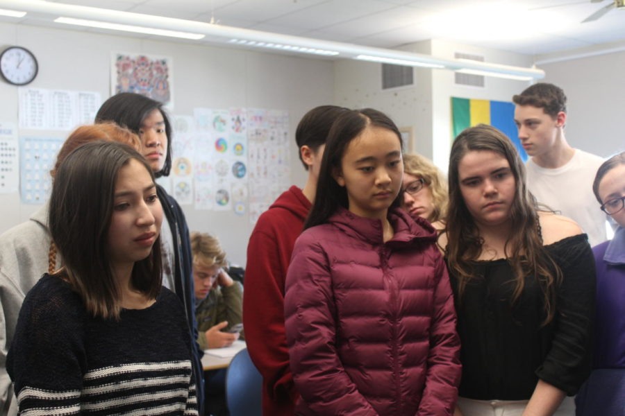 Students react to seeing a brain for the first time. Miya Okumura, a senior, said, I thought it would be worse than it was.