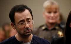 Larry Nassar getting sentenced to 40 to 175 years in prison by Judge Rosemarie Aquilina.