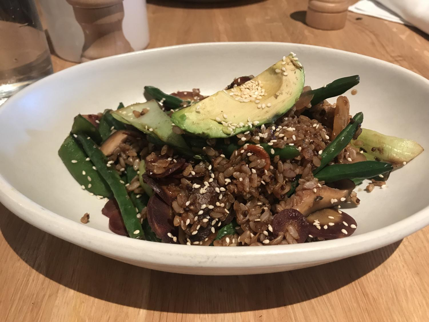 The small Teriyaki Quinoa bowl was loaded with flavor but not enough rice.