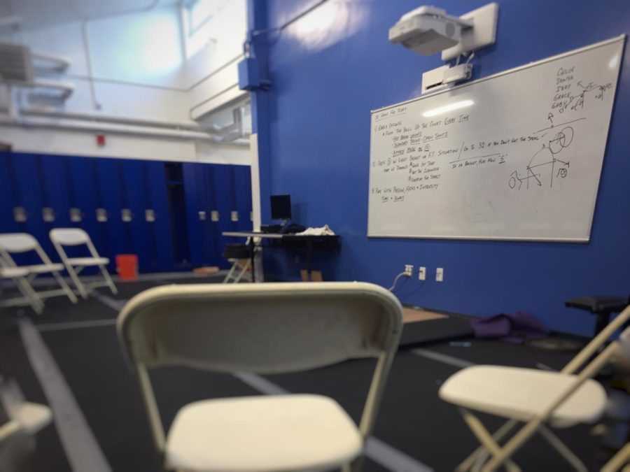 This+team+room+is+specifically+used+by+the+girls%27+athletic+squads.+The+projector+helps+to+review+and+discuss+team+strategies+based+off+videos+of+previous+games.+