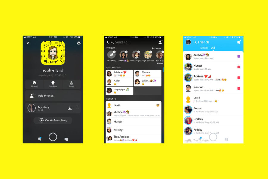 The+latest+Snapchat+update+combines+stories+and+chats+on+one+screen%2C+making+it+confusing+for+users.