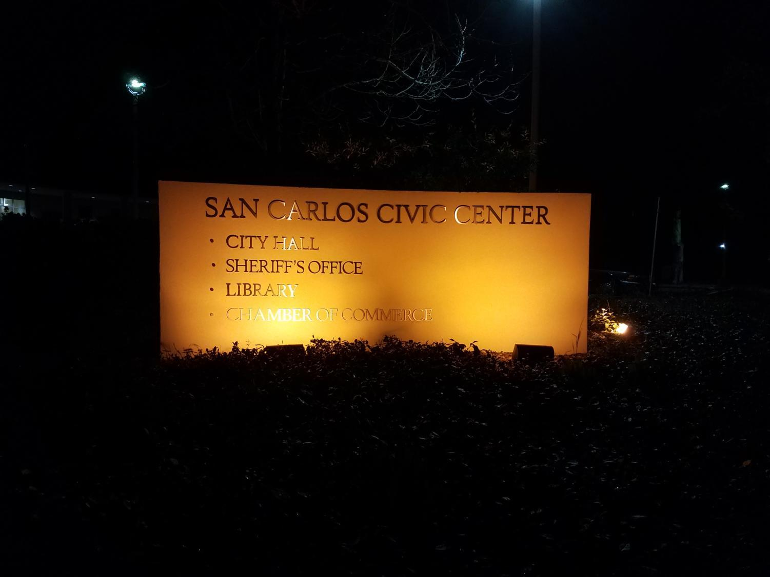 The San Carlos Sheriff's Office is located in the San Carlos Civic Center on the corner of Elm and Cherry Street.