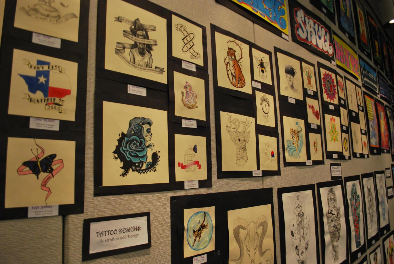Students+in+Illustration+and+Design+produced+tattoo+designs+present+at+the+Art+Show.