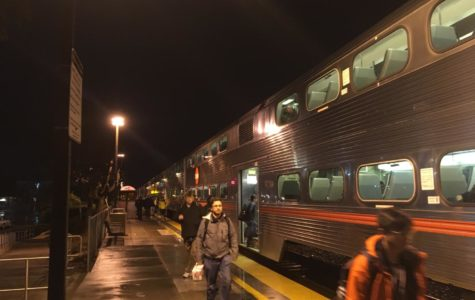 Diesel trains like these pictured will soon be replaced with more efficient electric trains for the benefit of riders and the Bay Area community.