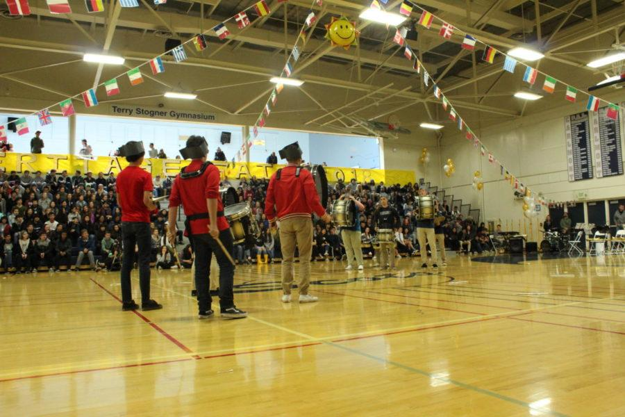 Drumline impressed the crowd with their engaging performance