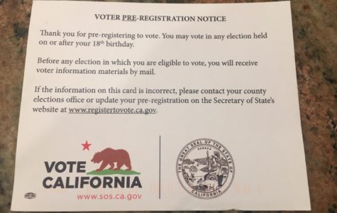 Shortly after pre-registering to vote, Californians will receive a post card in the mail confirming their registration, as well as to verify their information.