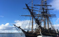 Historical ships drop anchor in Redwood City