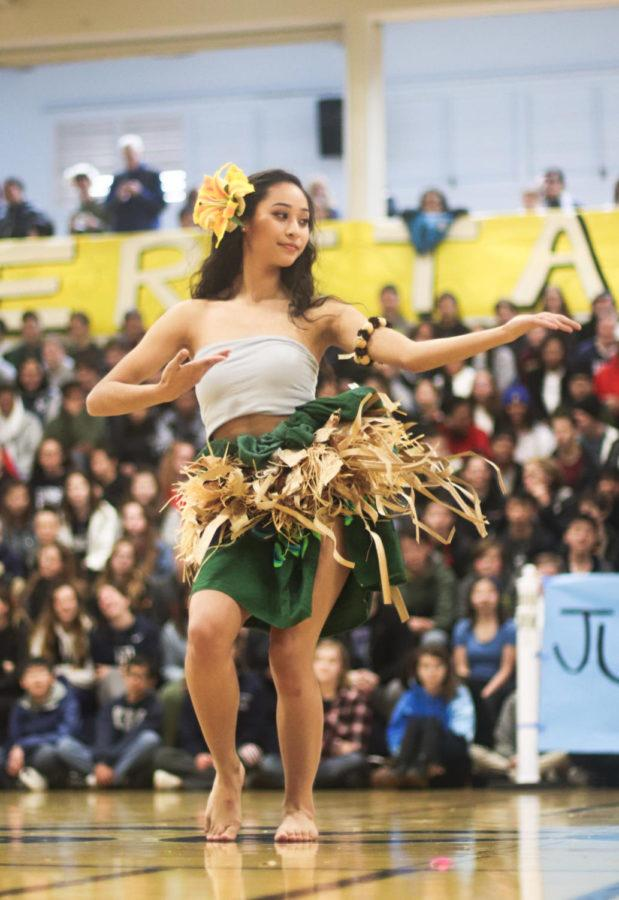 Aloha Club performed first at the assembly and earned enthusiastic  applause.