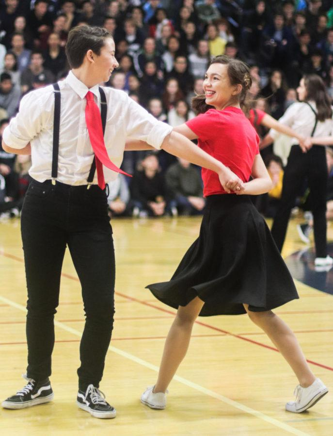 Swing Club impresssed the crowd with many flips and tricks.