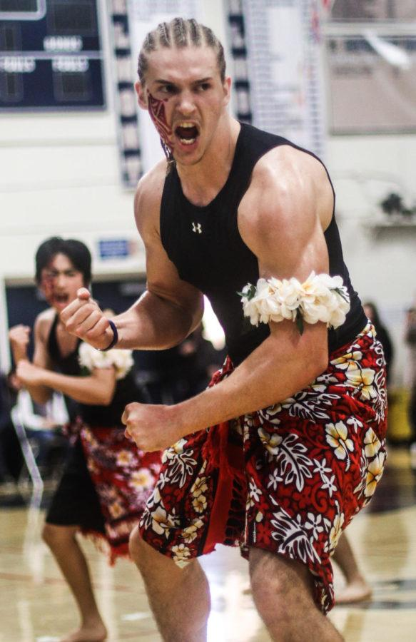 Jason Lloyd, a senior, performed with Polynesian Club.