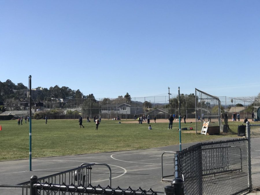 Little+League+players+and+umpires+practice+on+the+field.