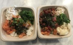My bowl, on the right, and my friend's bowl, on the left, made for a great and filling lunch.