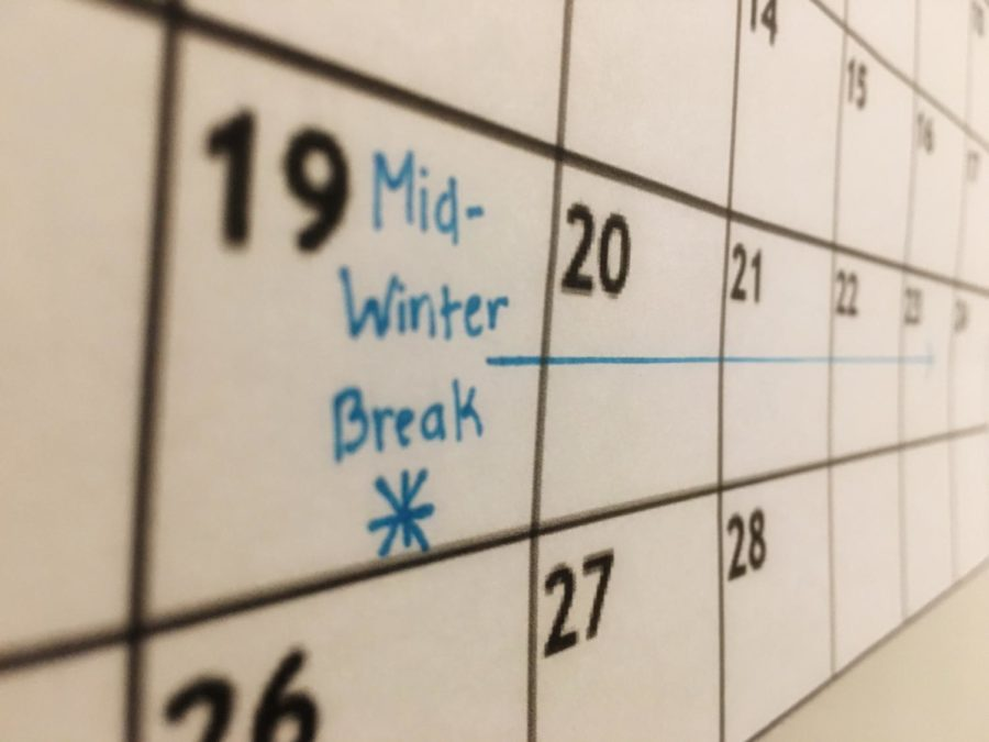 The week long Mid-Winter Break interferes with the many clubs that take place during that week.