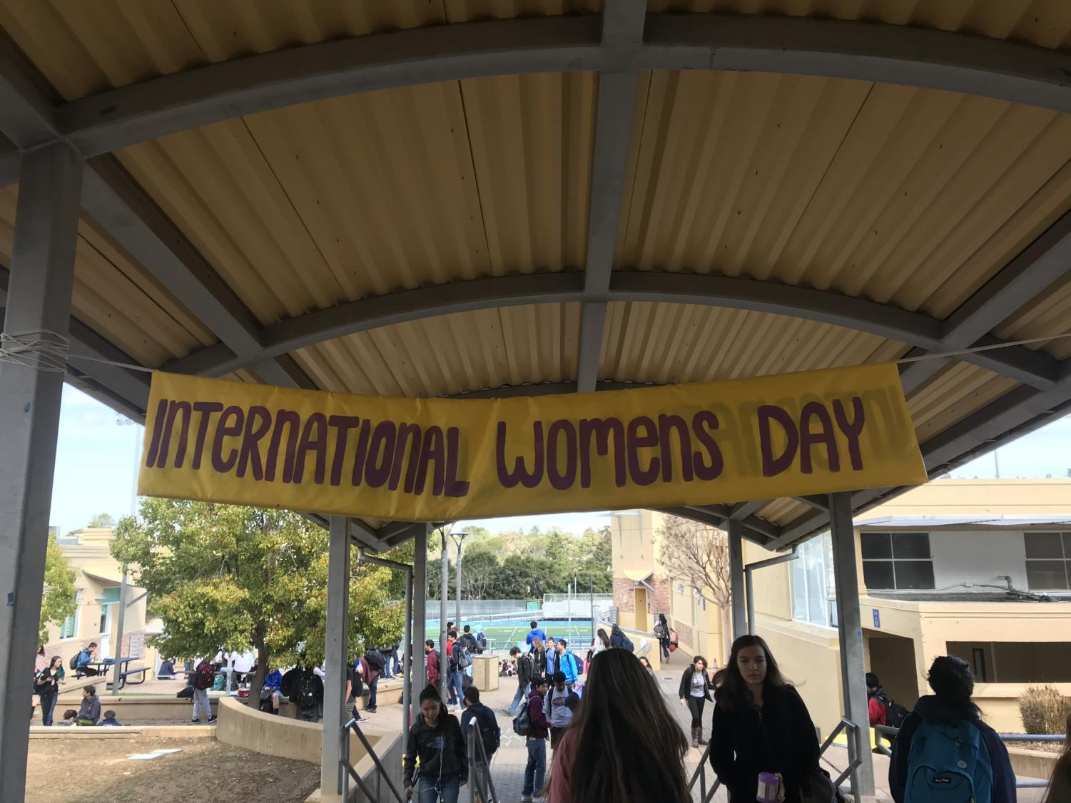 Banners were hung throughout the school to make all students aware of the purpose of the week.