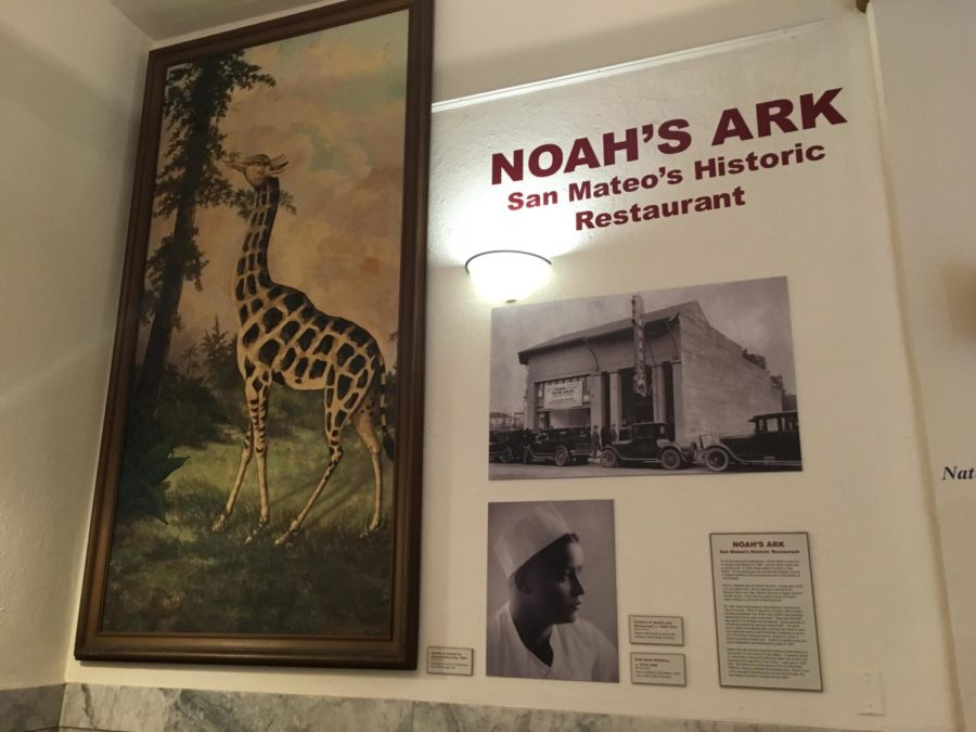 The exhibit shown at the San Mateo County History Museum features antiquities from Noah's Ark.