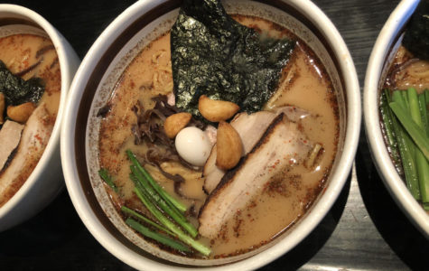 Ramen Dojo's Pork Garlic Ramen with all the traditional toppings and Ramen-style noodles.