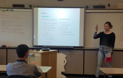 During their latest meeting in D22, the Investment Club discussed loans and insurance.