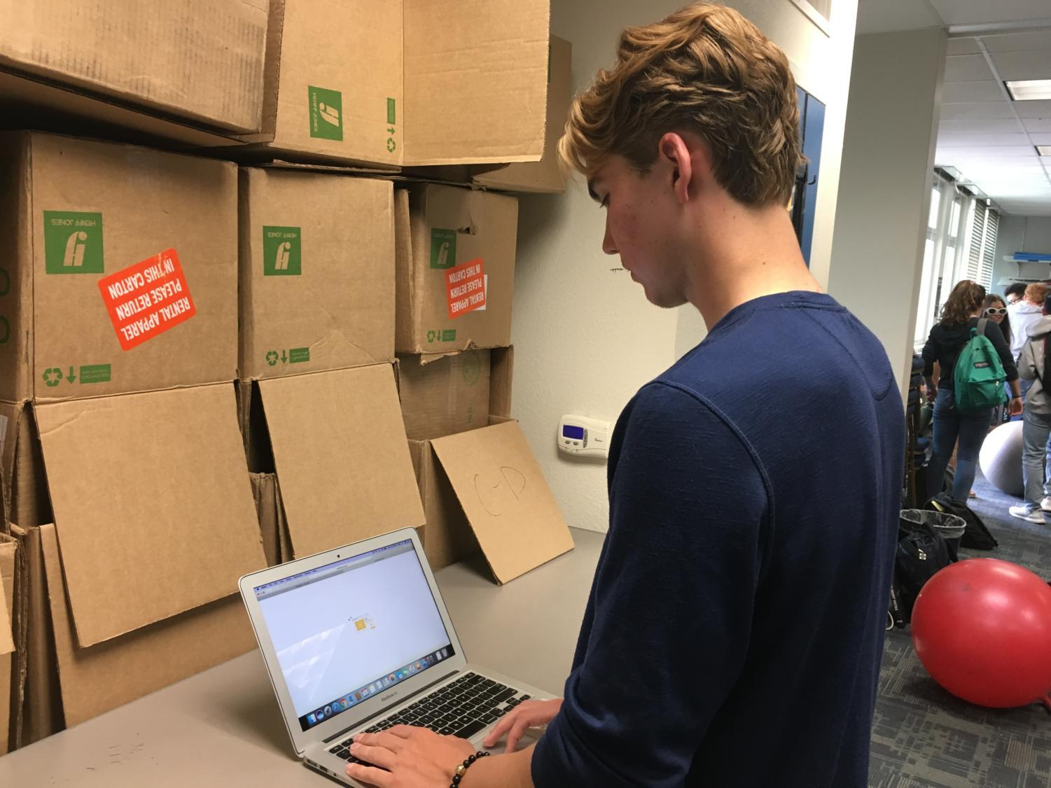 Theo Korolev, a junior, works on his tutoring site whenever he has the time.