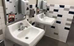 The bathrooms in S hall are often dirty during the school day.