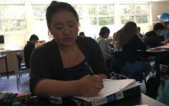 Cindy Chen, the Hope Brigade Club president, organizes the last club events of the school year.