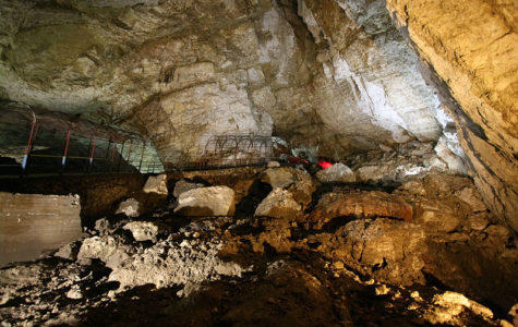 The country of Georgia is home to many massive caves such as Krubera Voronia, Sarma, and the New Athos cave pictured here.