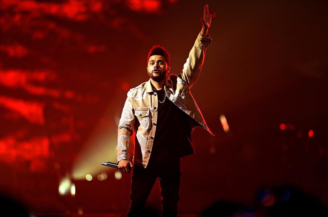 The Weeknd performs at Manchester Arena on March 5, 2017 in Manchester, England.