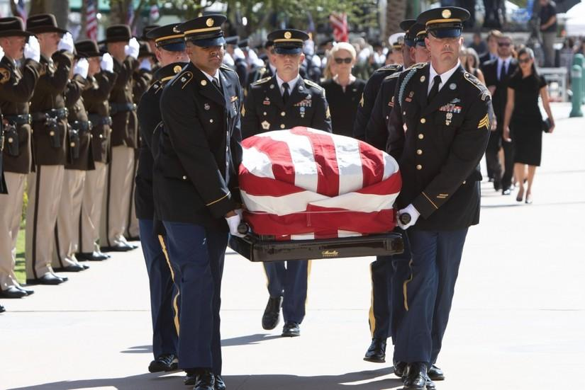Senator+McCain+is+laid+to+rest+in+Washington+D.C.+after+his+memorial+service+on+Sept.+1.+
