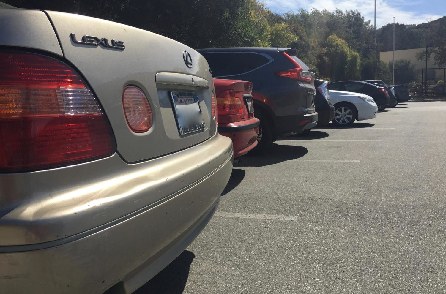 Students must pay for a parking permit in order to park in the student parking lots.